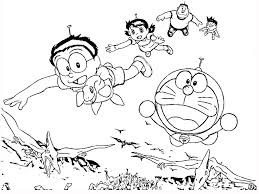doraemon with dinosaurs coloring page animal pages of