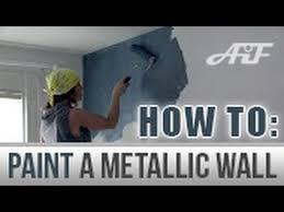 how to paint a metallic wall blank canvas metallic paint diy