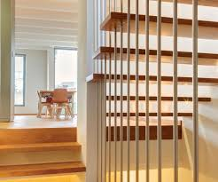 astonishing interior design minimalist floating wooden staircase
