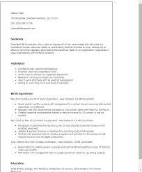 Human Resource Resume Sample by Professional Hr Coordinator Templates To Showcase Your Talent