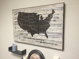 Usa Map State by United States Map Wood Wall Art United States Map Wood Wall