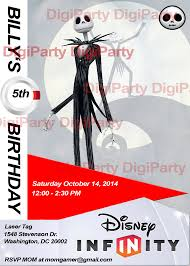 new birthday invitation jack skellington disney infinity 9 99 at