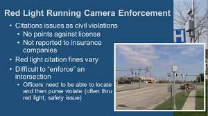 how many points for running a red light evaluation of automated camera enforcement on red light running