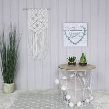 wire and wood basket side table white metal wire basket wooden top side table melody maison