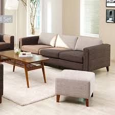 and japanese style trio modern fabric sofa small apartment sofa