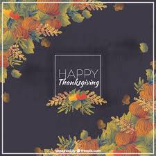 watercolor background for an happy thanksgiving vector free