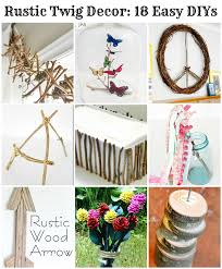 rustic decor made with twigs branches grapevines and similar are