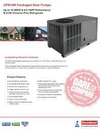 3 0 ton goodman 16 seer heat pump r 410a package unit gph1636h41