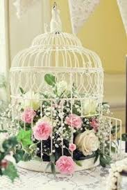 bird cage decoration vintage shabby chic dusky pink ivory roses bird cage wedding
