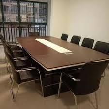 Office Meeting Table Excellent Quality Mdf Wood 10 Seater Conference Table With Power