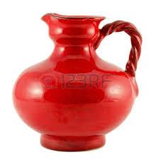 White Ceramic Jug Vase Blue Ceramic Jug Vase With Handle Isolated On White Background