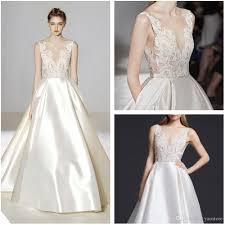 silk wedding dress discount vintage ivory silk mikado bridal gowns 2016 shear