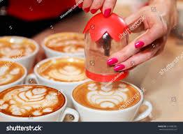Beautiful Coffee Cups Cup Cappuccino Bar Cappuccino Beautiful Drawings Stock Photo