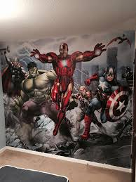 cutting lines interior and exterior decorating painter decorator specialist wall art mural paper hanging avengers thor hulk iron man captain america marvel