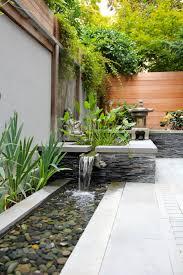 backyard garden ideas lush flowers tranquil waterfall perfect