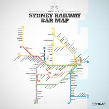 Chicago Train Map by Sydney U0027s Trains Bar Map Thrillist