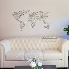 World Map Wall Decal Aliexpress Com Buy Geometric Map Of The World Wall Sticker World
