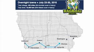 Shortest Route Map by Ragbrai 2016 Route Takes Riders To Scenic South