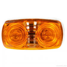 truck lite marker lights truck lite signal stat 2 bulb yellow rectangular incandescent marker