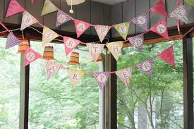 Happy Birthday Flags Woven Home Happy Birthday Pennant Banner Tutorial