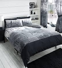 new york city nyc grey black duvet covers quilt covers