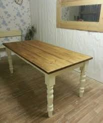 Shabby Chic Kitchen Table by Large Rustic Oak Farmhouse Kitchen Dining Table Painted Extending