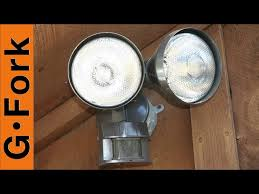 how to install an outdoor motion sensor light with pictures