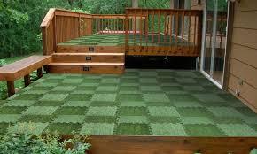 interlocking grass deck tile set 9 pack groupon