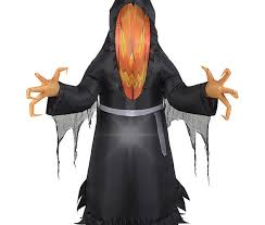 halloween inflatable 5 u2032 photoreal pumpkin reaper by gemmy u2013 great