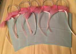 bridal party gift bags bridesmaid gift bag with tulle bows bridal party baby shower