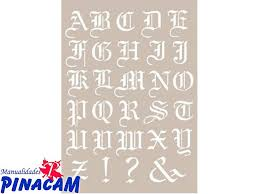 imagenes goticas letras plantilla cadence letras góticas 21x30cm