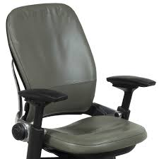 Leather Desk Chair by Steelcase Leap V2 Used Leather Task Chair Soapstone National
