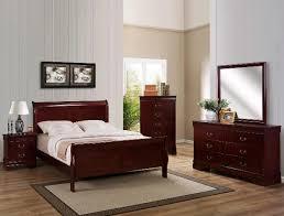 sleigh bedroom set queen louis philip cherry 4pc sleigh bedroom set queen nader s furniture