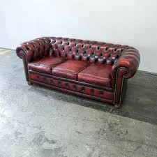 leather sofa details about chesterfield queen anne high back
