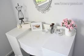 Clear Vanity Table An Organized Dressing Table A Bowl Of Lemons