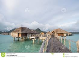 bora bora tahiti overwater bungalow stock photo image 50072648