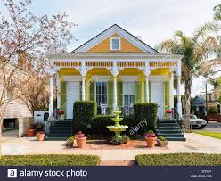 shotgun house algiers point new orleans stock photo royalty