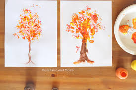 foil printed fall tree munchkins and