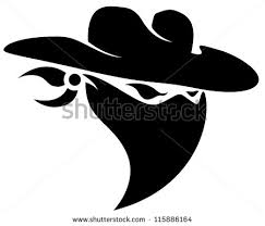 cowboy skull hat mascot tattoo design