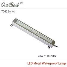 explosion proof led work light hntd td42 20w 220v 110v led metal panel light cnc machine tool