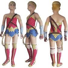 Halloween Costumes Kids Superhero Kids Girls Woman Diana Prince Cosplay Costume Skirt Deluxe