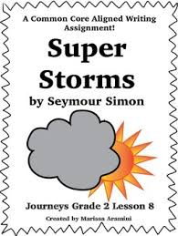 super storms journeys grade 2 lesson 8 writing prompt tpt