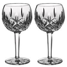 crystal wine glasses classic lismore balloon wine pair waterford us