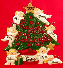 large family personalized ornaments gifts