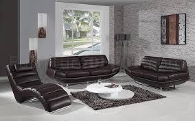 espresso leather modern 3pc sofa loveseat u0026 chaise set