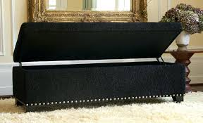york bonded leather black storage ottoman bench by christopher