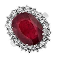 ruby engagement rings stunning 14k white gold ruby u0026 diamond cocktail ring 171800 ebay