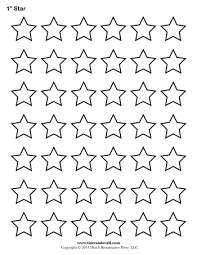 star template 1 inch tim u0027s printables education links