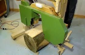 Log Saw Bench Cutting A Log With My Sawmill