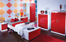 Custom Bedroom Furniture Red Gloss Bedroom Furniture Custom Furniture Concept New In Red